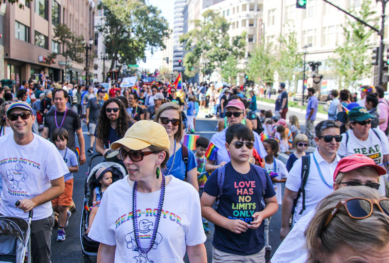 A crowd of participants of Oakland Pride Parade, Sep. 10th. Photo: Adelyna Tirado