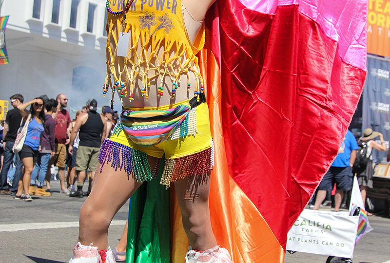 Juan Davila of the San Francisco Bay Times Newspaper strikes a pose at the Oakland Pride Festival, Sep. 10th. Photo: Adelyna Tirado