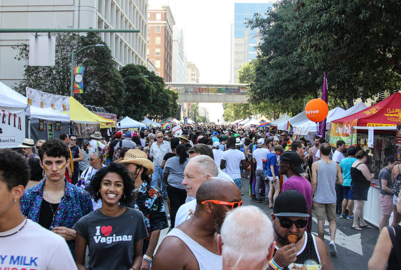 A sea of attendees at Oakland Pride Festival, Sep. 10th. Photo: Adelyna Tirado