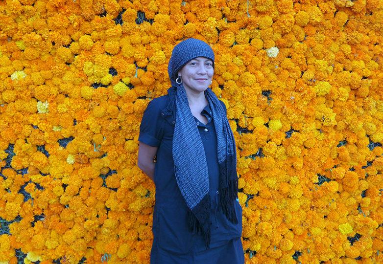 Veronica Solís, curadora de la exhibición Oda a la Muerte. Foto: Patrick Piazza