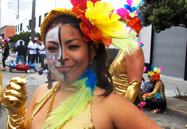 Susana Robles Desgarennes, who was described by her youth mentors as an incredible artist, participates in Carnaval in San Francisco. Courtesy Jose Carrasco