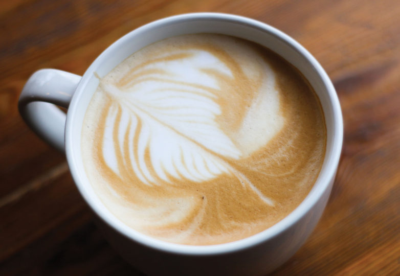 Latte art at Temo's Café. Photo: Erica Marquez