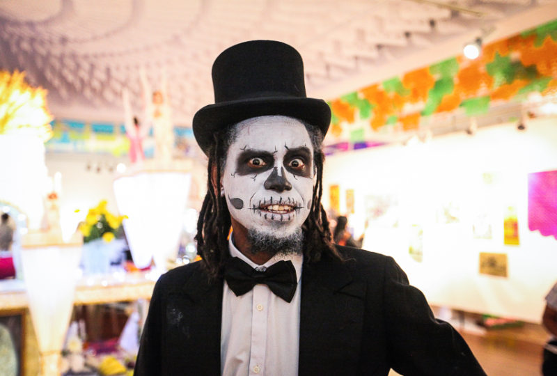Ben Baker poses for a photo during the Mission Día de Muertos Exhibit and Celebration at Mission Cultural Center for Latino Arts in San Francisco's Mission District on Thursday, Nov. 2, 2017. Photo: Ekevara Kitpowsong
