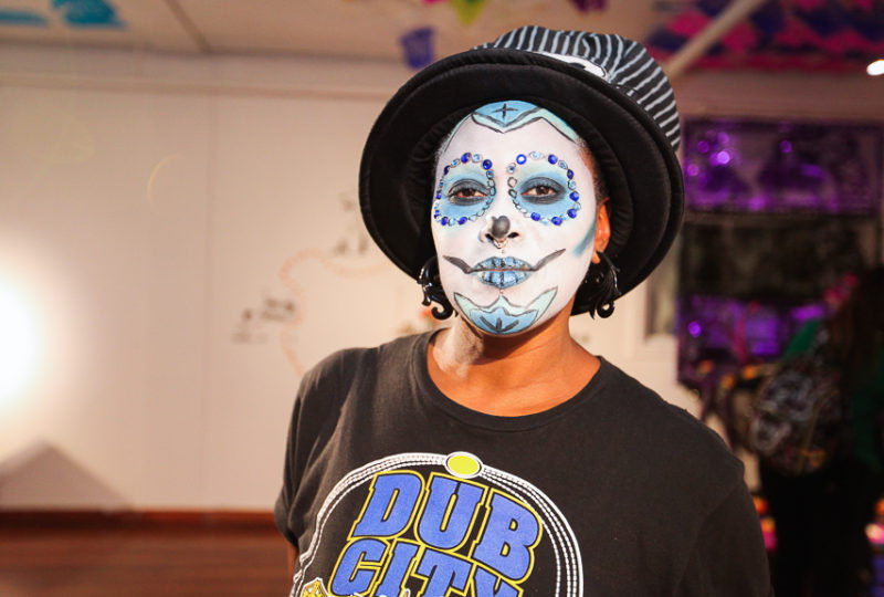 San Francisco native and Mission resident Rev. Yolanda R Simmons attends the Mission Día de Muertos  Celebration at Mission Cultural Center, Nov. 2, 2017. Photo: Ekevara Kitpowsong