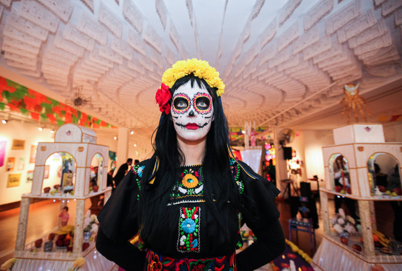 Sarita De La Madrid poses for a portrait during the Dia de Muertos celebration at Mission Cultural Center, Nov. 2, 2017. Photo: Ekevara Kitpowsong