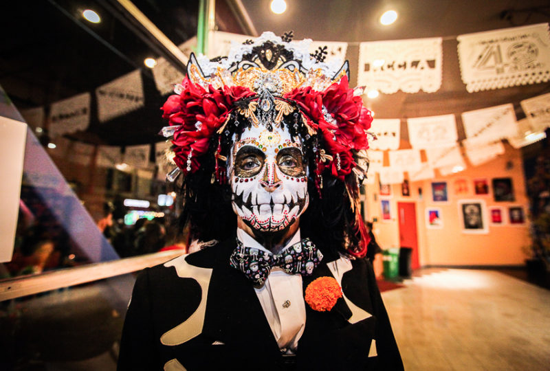 Ralph Boethling poses for a portrait at the Día de Muertos Celebration at Mission Cultural Center, Thursday, Nov. 2, 2017. Photo: Ekevara Kitpowsong
