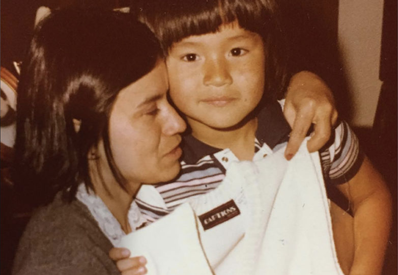 Equipto with his mother, Maria Cristina Gutierrez. Via Instagram/@equipto