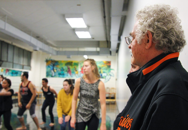 """Carlos Baron reviews the new cast and choreography of """"La Posarela"""" at the African American Art & Culture Complex in San Francisco, Calif. on Nov. 15. Photo: Adelyna Tirado"""