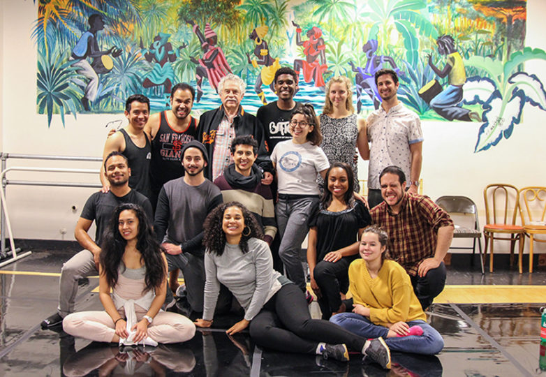 """The cast and crew of """"La Posarela"""" 2017 show pose for a portrait at African American Art & Culture Complex in San Francisco on Nov. 15. Photo: Adelyna Tirado"""