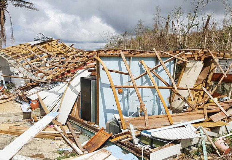 Puerto Rico tras el paso del Huracán María. Cortesía: Erin Carrera.