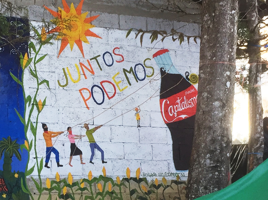 From the bay to chiapas a journey towards liberation for Mural zapatista