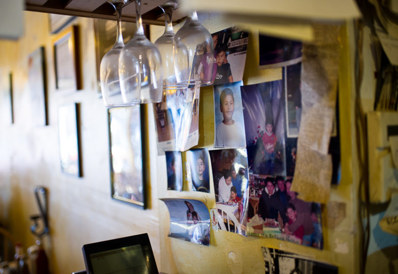 Family photos line the wall near the register at Mission District's Sunrise Restaurant, Feb. 16, 2018. Photo: Beth LaBerge