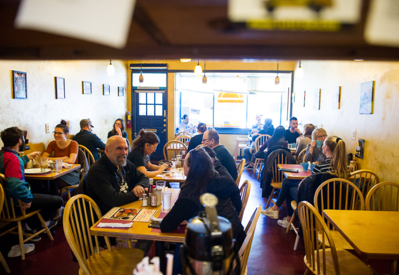 A busy Saturday morning at the Mission District's Sunrise Restaurant, Feb. 17, 2018. Photo: Beth LaBerge