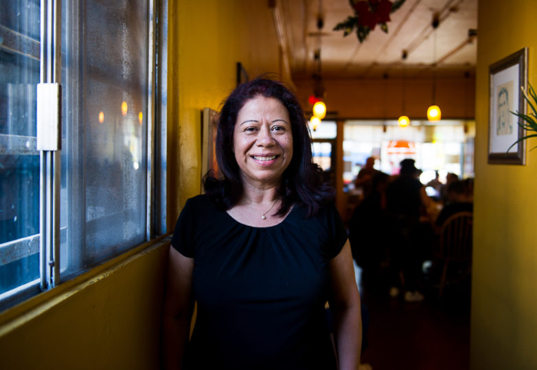 Alba Guerra, owner of Sunrise Restaurant in San Francisco's Mission District, on Feb. 17, 2018. Photo: Beth LaBerge