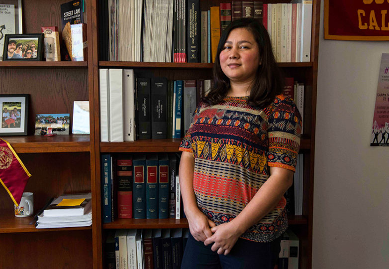 Gabriela Garcia at the University of San Francisco School of Law, Koret Law Center on Feb. 5, 2018. Garcia is a co-founder of the Dreamer Fund, a nonprofit which helps fundraise for undocumented students in law school or wish to attend law school. Photo: Desiree Rios