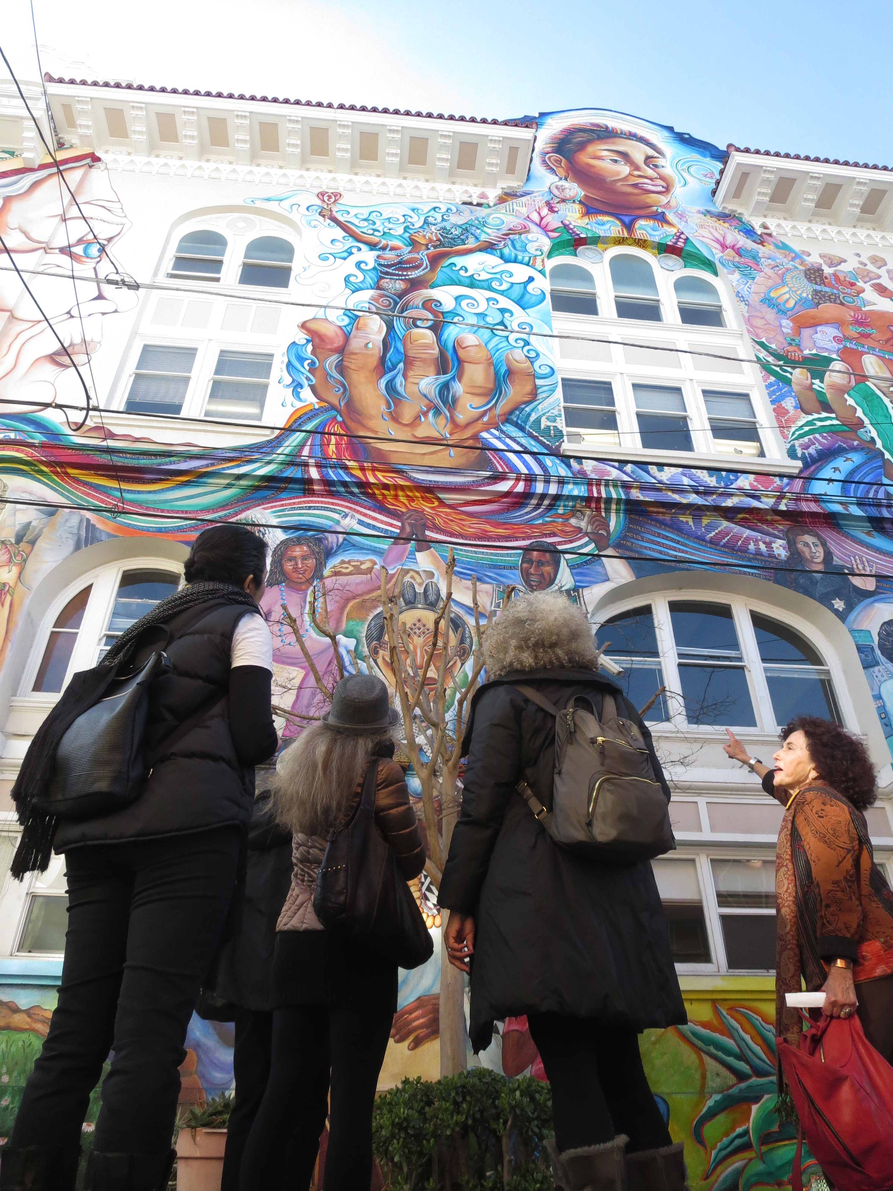 Women s building muralists to release book for mural s for Construction mural