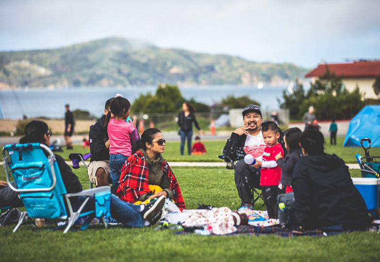 Crowds enjoy the weekly Presidio Picnic, which on May 27 will host a performance by Ballet Folklórico México Danza. Courtesy: Presidio Trust