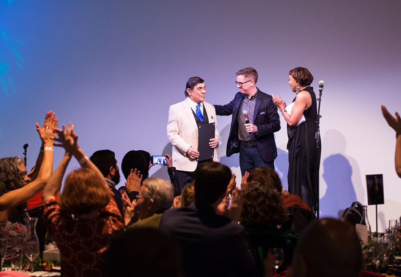 Artist René Yañez is honored at ¡Demasiado!, a benefit for SOMArts on Apr. 14, 2018. Photo: Beth LaBerge