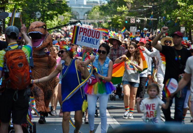 Participantes del Desfile del Orgullo en San Francisco, el 24 de junio de 2018. Foto: Alejandro Galicia Diaz