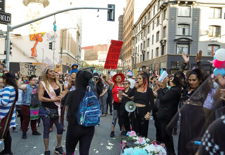 Participantes de la Marcha Trans en San Francisco, el 22 de junio de 2018. Foto: Drago Rentería