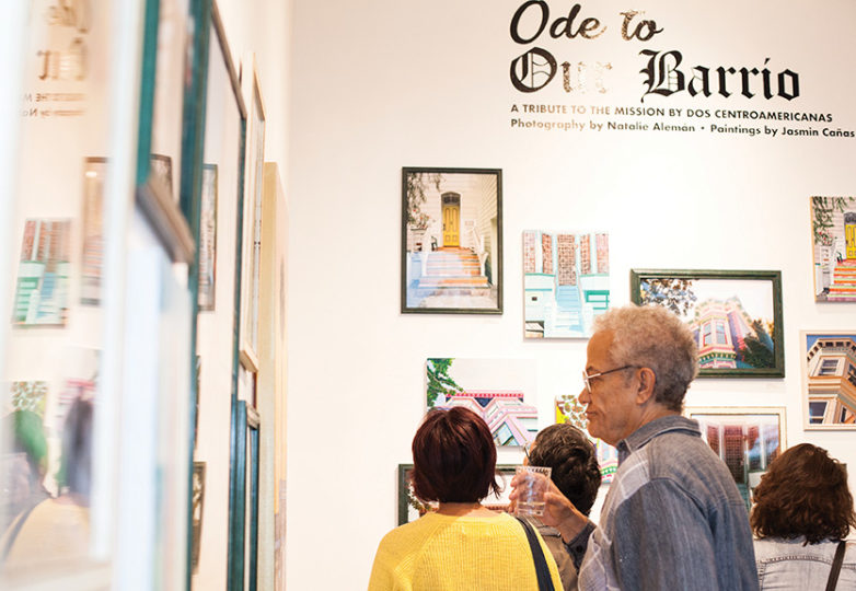 "Guests attend the opening reception of ""Ode to Our Barrio: A Tribute to the Mission District in Painting & Photography,"" an exhibition showcasing work by Latina artists Natalie Alemán and Jasmin Cañas, which opened on Saturday, Sept. 1, 2018 at Juan R. Fuentes Gallery in San Francisco's Mission District. Photo: Ekevara Kitpowsong"