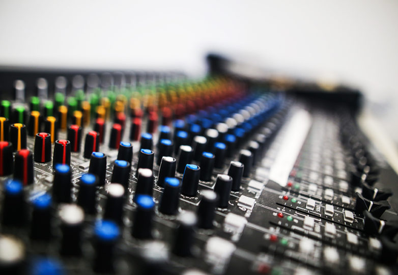 "An audio mixer used for the Women's Audio Mission (WAM) ""Girls on the Mic"" class at Unity Council in Oakland's Fruitvale neighborhood on Aug. 29, 2018. WAM is a nonprofit female-run organization that offers girls free training in creative technology and digital media production. Photo: Adelyna Tirado"