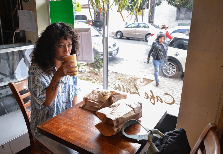 A customer enjoys one last coffee and concha during the last day of business at La Victoria Bakery, on Tuesday Oct. 9, 2018. Located on 24th and Alabama streets, La Victoria closed its doors after 67 of operating in San Francisco's Mission District. Photo: Mabel Jiménez