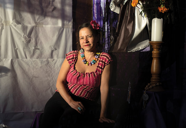 Casa Bonampak owner Nancy Charraga poses for a portrait on Oct. 12 inside her store located in the Mission District. Photo: Dane Pollok