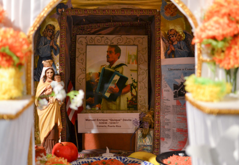 An altar for Quique Davila is on display during Dia de Muertos celebrations at the Mission Cultural Center for Latino Arts in San Francisco's Mission district, Friday November 2, 2018. Photo: Mabel Jiménez/Calle 24