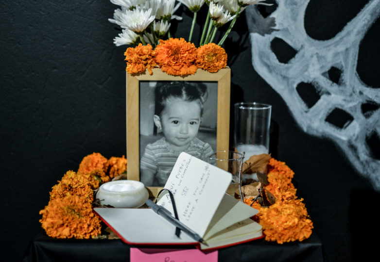Altars and artworks are displayed at the Mission Cultural Center during the Dia de Muertos celebrations in San Francisco's Mission district, Friday November 2, 2018. Photo: Mabel Jiménez/Calle 24