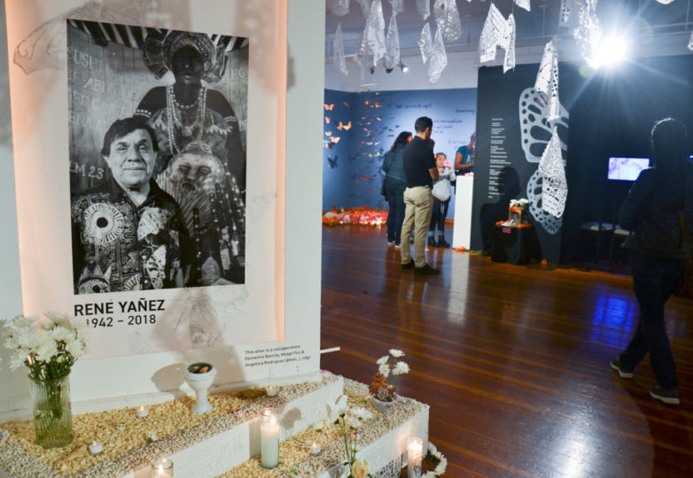 An altar dedicated to Rene Yañez is displayed at the Mission Cultural Center during the Dia de Muertos celebrations in San Francisco's Mission district, Friday November 2, 2018. Photo: Mabel Jiménez/Calle 24