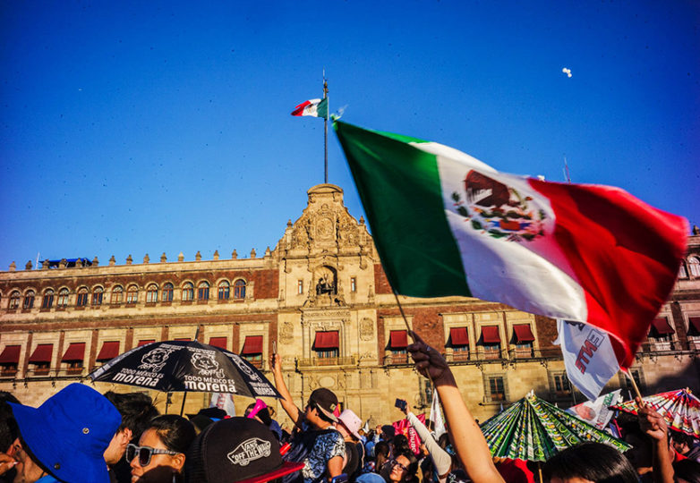 On his third attempt, Andrés Manuel López Obrador (AMLO) was sworn in as Mexico's new president at the Zócalo in Mexico City on Dec. 1, 2018. Courtesy: Rodrigo Jardon