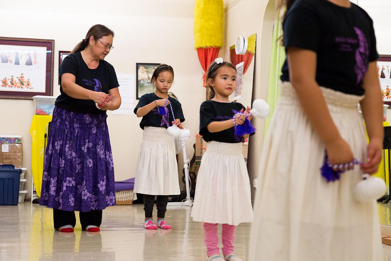 5641607d1ead Kumu (teacher) Lani Cid-Iulio teaches her Keiki students how to dance using  Poi balls, at Island Hawaiian Studios in Alameda on Dec. 13, 2018.