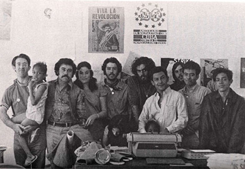 """An archival photo of the Los Siete activists that will be displayed in the """"Remember Los Siete"""" exhibit."""