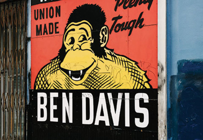 The well-known Ben Davis mural painted on the side of the now closed Arik's at Mission Street and Valencia Street. Photo: Mark Jason Quines
