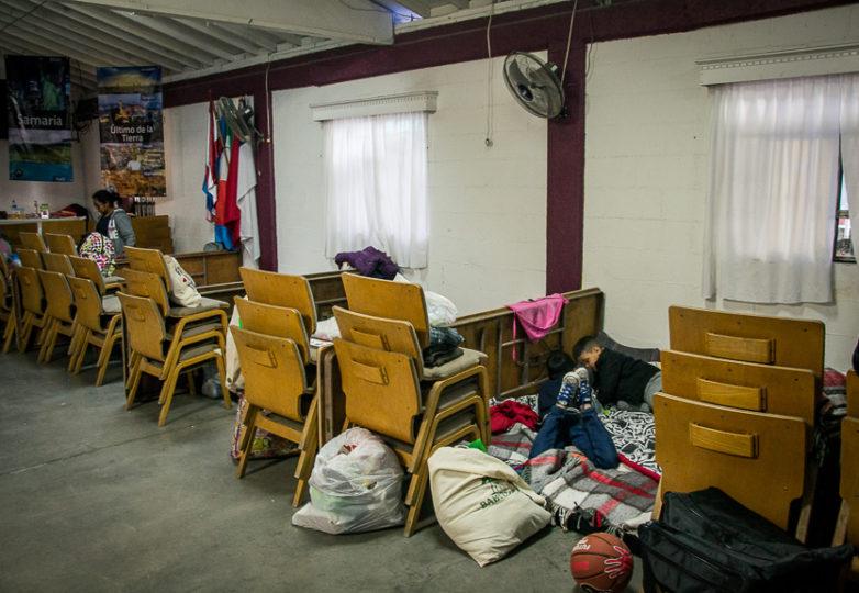 The women and children's sleeping area at Camino de Salvación church and shelter, Sunday March 10, 2019. Photo: Mabel Jiménez