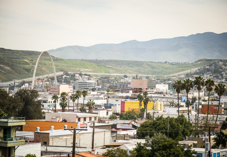 The U.S.-Mexico border wall is seen from the Altamira neighborhood, near downtown, March 15, 2019. Photo: Mabel Jiménez