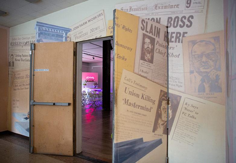The Lab está ubicado en el histórico edificio Redstone, anteriormente conocido como el Templo Laboral Redstone en el Distrito de la Misión, en San Francisco. Foto: Emma Marie Chiang