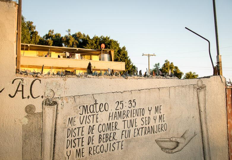 Roca de Salvacion shelter, one of the most remote migrant shelters in Tijuana, is located at the foot of El Cerro Colorado mountain, in the Cañón de la Raza neighborhood. March 14, 2019. Photo: Mabel Jiménez